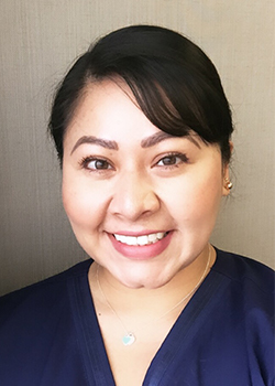 Lead registered dental assistant Isabel